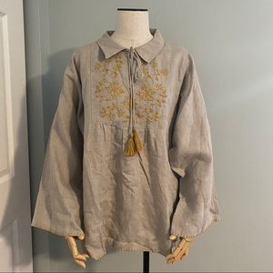 NWT Ivy Jane linen tunic